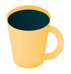 coffee mug icon isometric style vector image