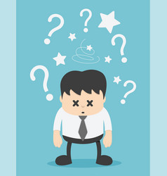 Concept businessman with question mark vector