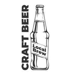 craft beer local brew vintage label vector image