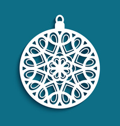 cutout paper christmas decoration vector image