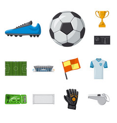 design soccer and gear logo collection vector image