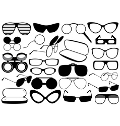 Different eyeglasses vector image