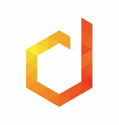 Digital d logo design template vector