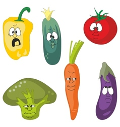Emotion vegetables set vector image