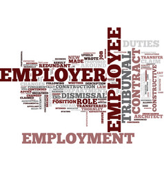Employment law unfair dismissal constructive vector
