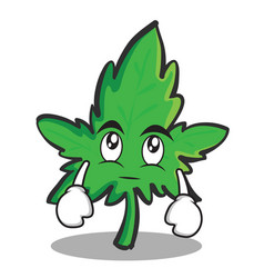 Eye roll marijuana character cartoon vector