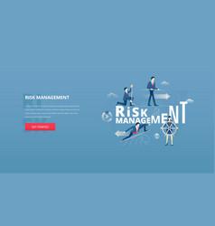 Financial risk management hero banner vector