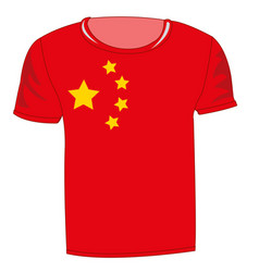 Flag of the country china on t-shirt vector