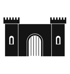 fortress with gate icon simple style vector image