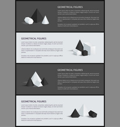 Geometrical figures poster set vector