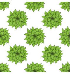 green bush set vector image