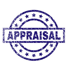 Grunge Textured Appraisal Stamp Seal Vector
