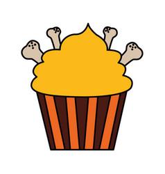 happy halloween cupcake vector image