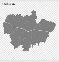 high quality map city vector image