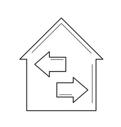 house resale line icon vector image