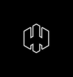 initial letter h logo template with hexagonal vector image