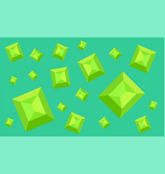 interesting pattern with emeralds vector image