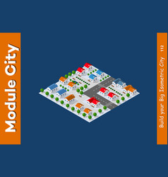 isometric view of a farm vector image
