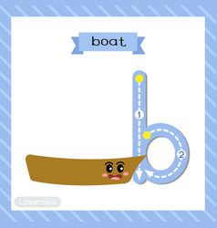 Letter b lowercase tracing boat vector