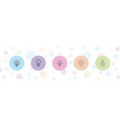 Lightbulb icons vector