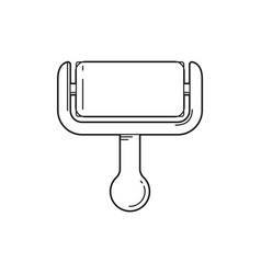 line paint roller icon vector image