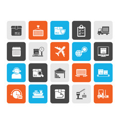 Logistics delivery transportation and cargo icon vector