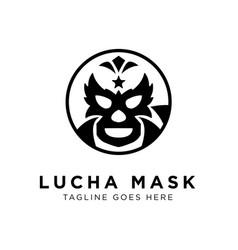 lucha mask logo concept creative minimal design vector image