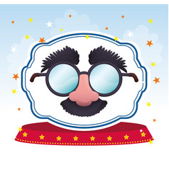 Mask glasses fun image vector