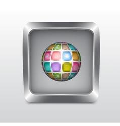 Media social icon vector image