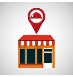 mobile phone food service shop locater vector image