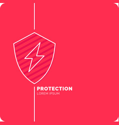 modern linear background for protection company vector image