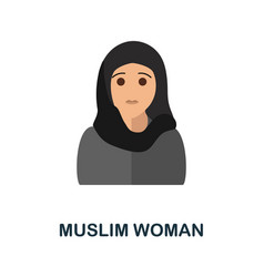 Muslim woman icon simple element from vector