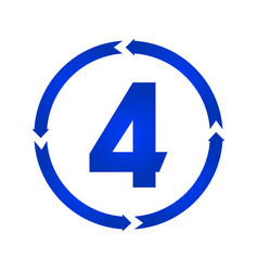 number 4 icon vector image
