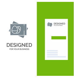 pass board egg easter card grey logo design and vector image