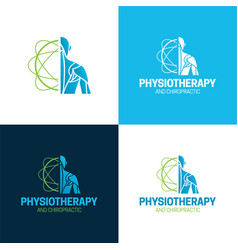 physiotherapist logo and icon vector image