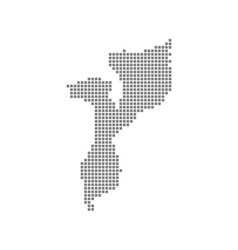 pixel map of mozambique dotted map of mozambique vector image