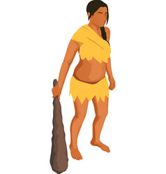 Primitive woman vector