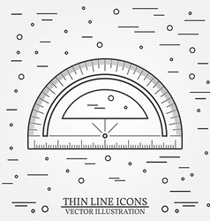 Protractor on white background vector