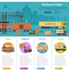 Railway Freight infographics vector