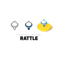 Rattle icon in different style vector image