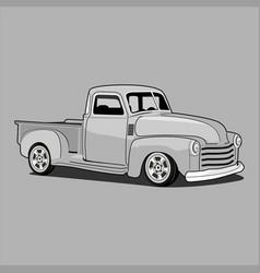 Retro classic truck pick upchevrolet 1970 vector