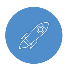 Rocket launcher isolated icon vector