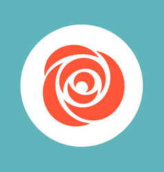 rose icon valentine symbolic vector image