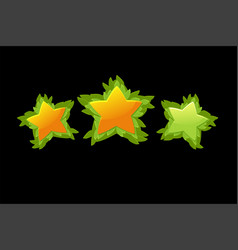 set decorative star rating game from vector image