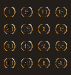 Set of anniversary symbols vector