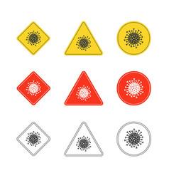 set virus icons vector image