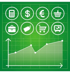 Set with finance and business elements vector
