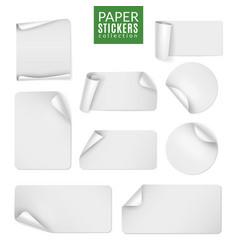 stickers paper label white sticker round vector image