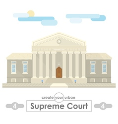 Supreme court building vector