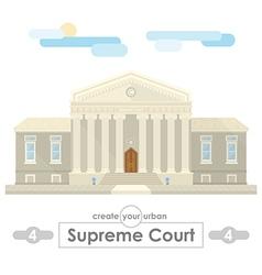 supreme court building vector image